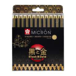 Sakura Pigma Black and Gold Limited Edition Set of 12