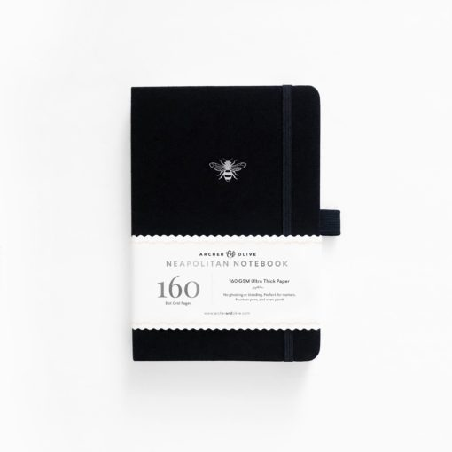 B5 Archer & Olive Silver Bee Neapolitan Dot Grid Notebook