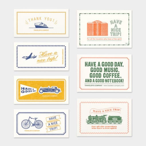 TRAVELER'S Company Limited Edition Notebook - Regular Refill Message Card