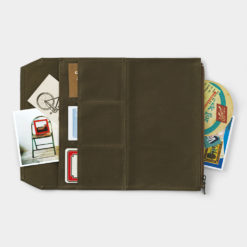 TRAVELER'S Company Limited Edition - Traveler's Notebook Cotton Zipper Case Regular Olive