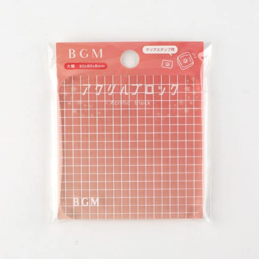Clear Stamp Acrylic Block with Grid