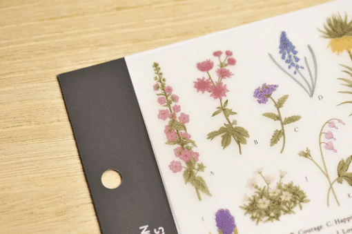 MU Print-On Stickers - Flower Encyclopedia