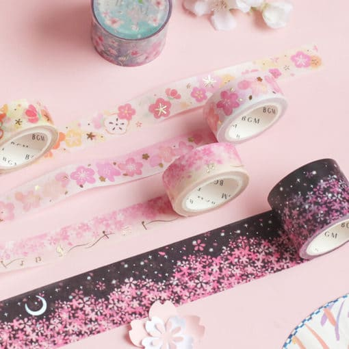 BGM Sakura Love Song Washi Tape