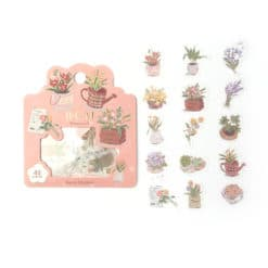 BGM Flower Shop Washi Stickers