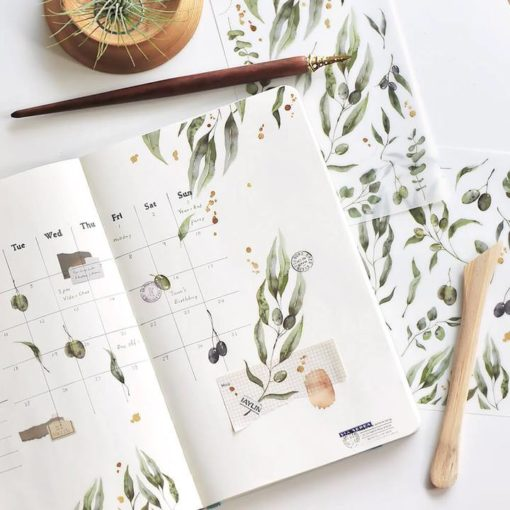 MU Print-On Stickers - Olive Branches