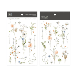 MU Print-On Stickers - Delicate Flowers