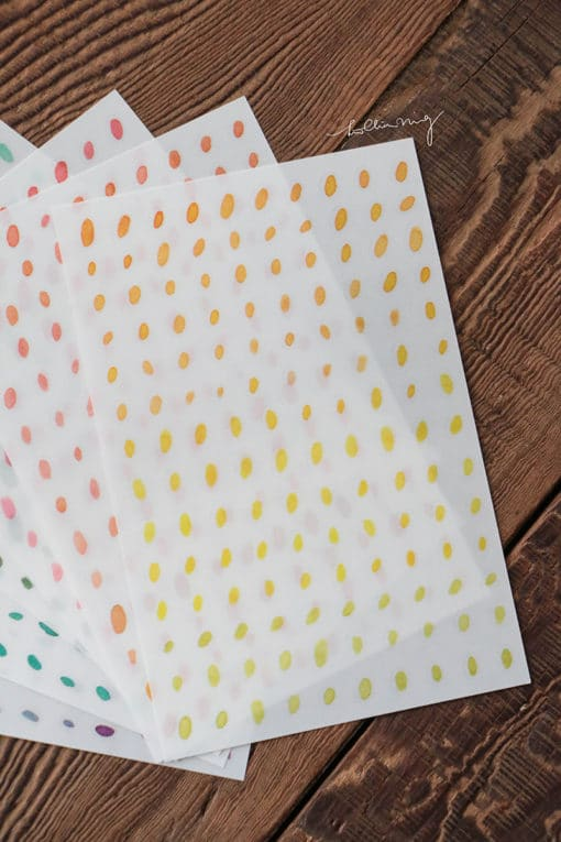 LCN Design Print on stickers- Dots