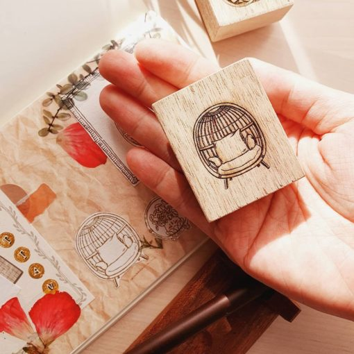 Elsie with Love Rubber Stamp - Rattan Series, no. 1