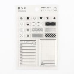 BGM Checklist Clear Stamp Set