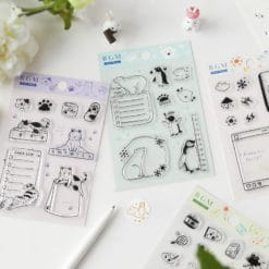 BGM Cats Trackers Clear Stamp Set