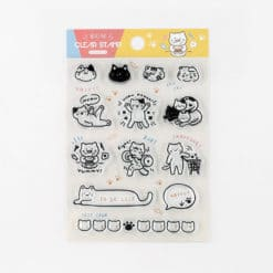 BGM Cats' Life Clear Stamp Set