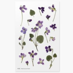 Appree Pressed Flower Stickers - Manchurian Violet