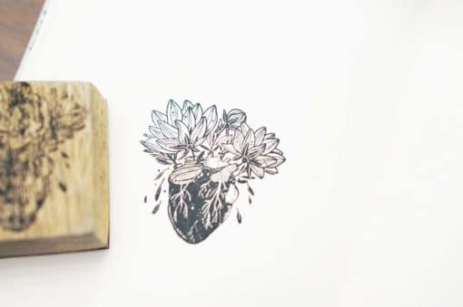 Black Milk Project Rubber Stamps - Blooming Heart
