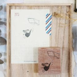 Black Milk Project Rubber Stamps - Flying Book