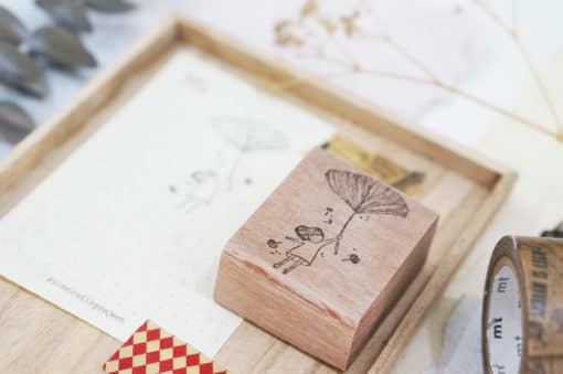 Black Milk Project Rubber Stamps - Gingko Girl