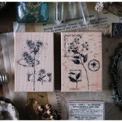 LCN Design Rubber Stamps - Dried Flower, set B