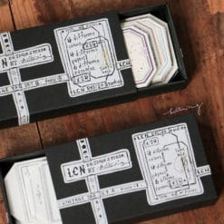 LCN Design- Letterpress Vintage tags set A and B (tag and label shaped)