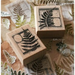 LCN Design Rubber Stamps - Fern Postage Stamp-set A