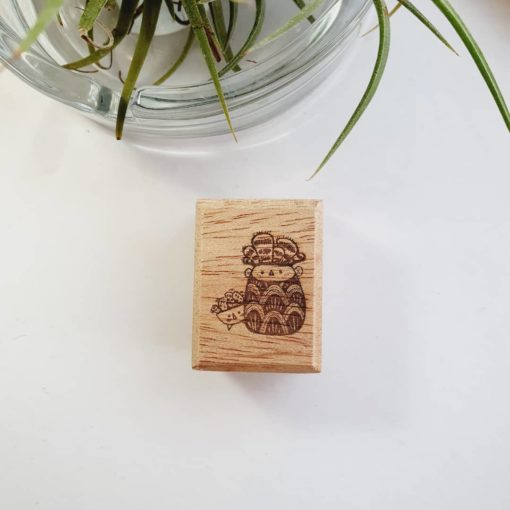 Elsie with Love Rubber Stamp - Kakpoot Series no. 5