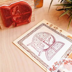 Elsie with Love Rubber Stamp - Rattan Series, no. 5