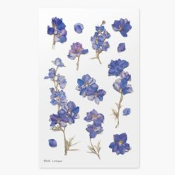 Appree Pressed Flower Stickers - Larkspur