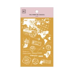 MU Print-On Foil Stickers - Travel the World