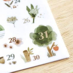 MU Print-On Stickers - Forest Numbers