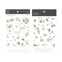 MU Print-On Stickers - Delicate Flowers Numbers