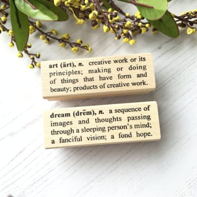 Catslife Press Rubber Stamp - Dictionary Dream Art