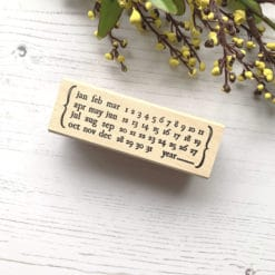 Catslife Press Rubber Stamp - Perpetual Calendar Style C