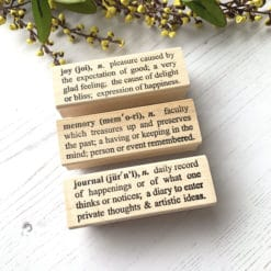 """Catslife Press Rubber Stamp - Dictionary """"Joy"""" """"Memory"""" """"Journal"""""""