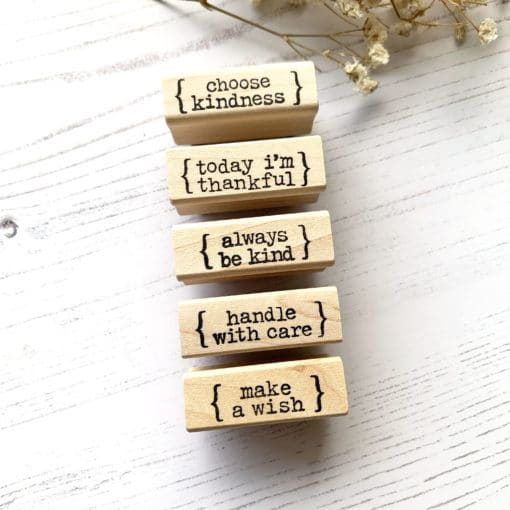 Catslife Press Rubber Stamp - Little Words Part 2