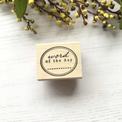 Catslife Press Rubber Stamp - Word of the Day