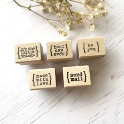 Catslife Press Rubber Stamp - Little Words Part 1