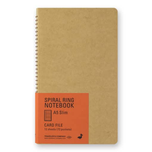 Traveler's Company Spiral Ring Notebook - A5 Slim Card File