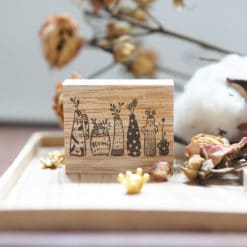 Black Milk Project Rubber Stamps - Whimsical Vases