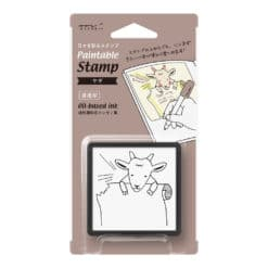Midori Paintable Stamp Pre-inked Goat