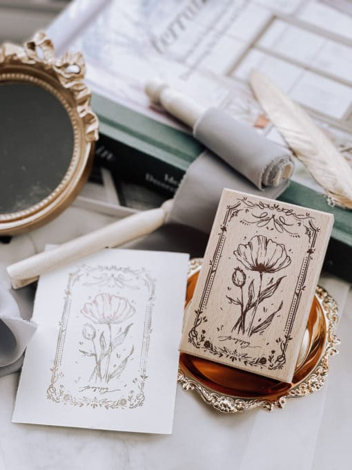 Meow Illustration Stamp - The Old Fashioned Way - Y1801