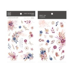 MU Print-On Stickers – Live like Flowers in Pink